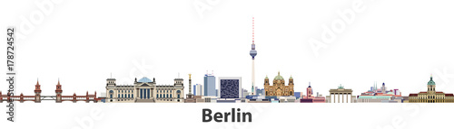 Fototapete Berlin vector city skyline