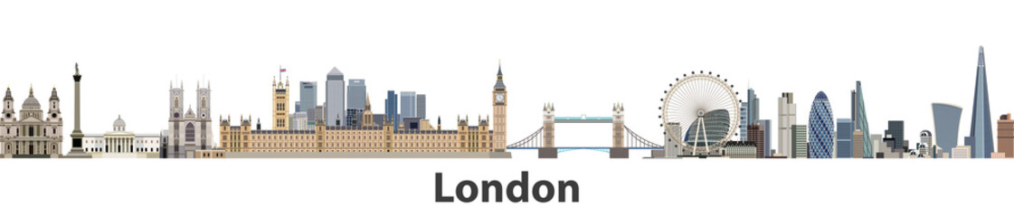 Wall Mural - London vector city skyline