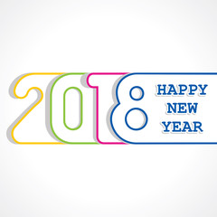 2018 greeting for new year celebration