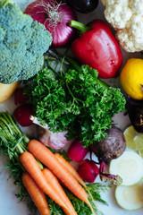 Printed roller blinds Vegetables Fresh organic vegetables