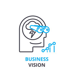 Business vision concept , outline icon, linear sign, thin line pictogram, logo, flat illustration, vector