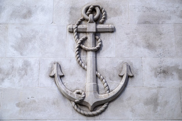 Anchor Stone Carving in London