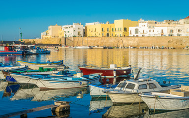 Sunny morning in Gallipoli, province of Lecce, Puglia, southern Italy.