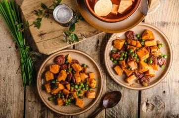 Sweet potato pan vegetable
