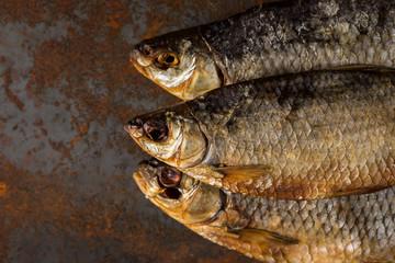 Salty dry river fish