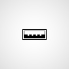 USB port. Vector icon