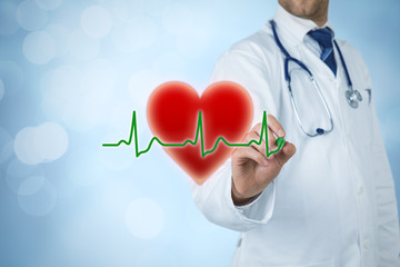 Cardiologist and healthcare concepts
