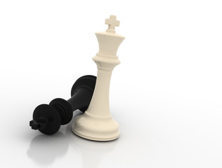 Chess king - last one standing