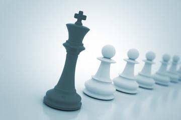 Chess king leadership concept