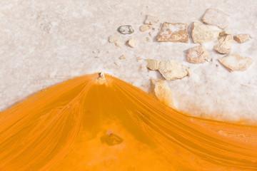 Saltworks in Salinas de Imon, Guadalajara, Castilla la Mancha, Spain