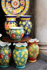 Amalfi coast ceramic dish