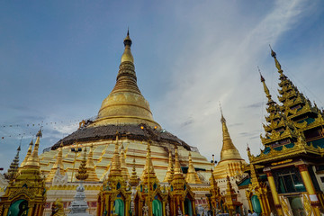 Shwedagon Paya Pagoda in Yangon during the day