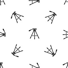 Tripod pattern seamless black
