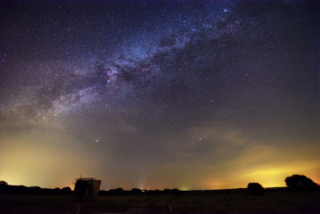 Milky way over summer night sky, Texas