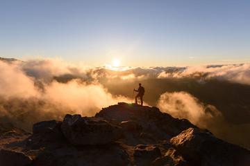 Summit climber at Mount Rainier National Park
