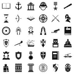 Helpdesk icons set, simple style