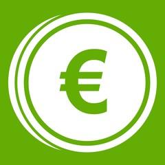 Euro coins icon green