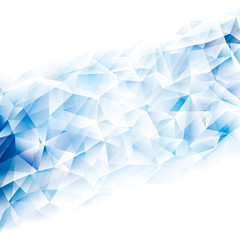 Geometric cold blue polygonal pattern abstract background.