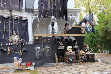 Pirates ship as Halloween Decoration