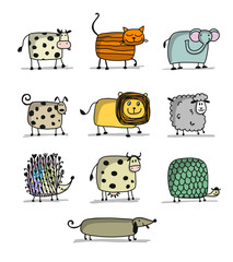 Funny animals, set for your design