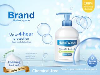 Foaming hand wash ads