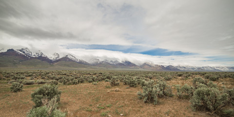 East face of Steens Mountain with snow