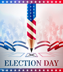 United States Vote.American Election day.vector illustration eps 10