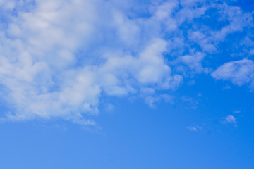 Clouds in blue sky, blue sky with clouds, blue sky with fluffy clouds close, soft white clouds in blue sky