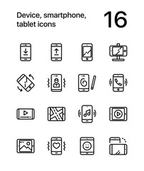 Device, smartphone, tablet icons for web and mobile design pack 1