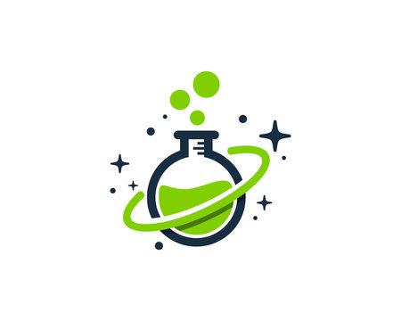 Lab Planet Icon Logo Design Element