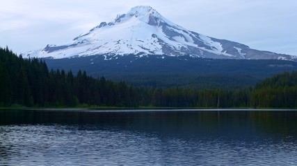 Mountain and forest lake 1 Trillium Lake at Dusk and Mt. Hood 2