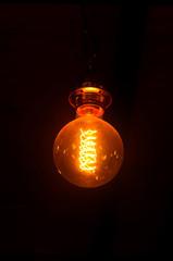 Vintage light bulb for decorate interior design.