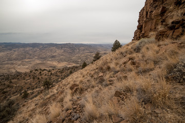 Central Oregon Mountainside Backpacking near the Painted Hills