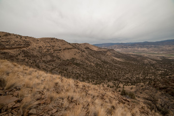 Landscape of Eastern Oregon Backpacking near the Painted Hills
