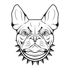 French Bulldog icon.Dog collection