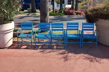 Chaises bleues, la Croisette, Cannes
