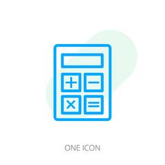 Calculator line icon