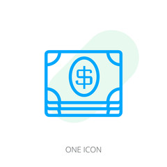 Monetary currency icon. Money line icon