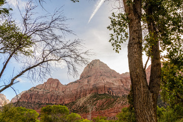 Striated mountains of Zion