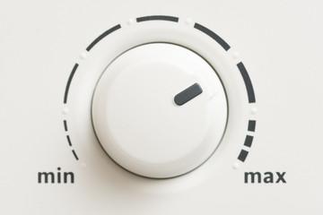 Macro Shot of a Minimum Maximum Level Control Knob
