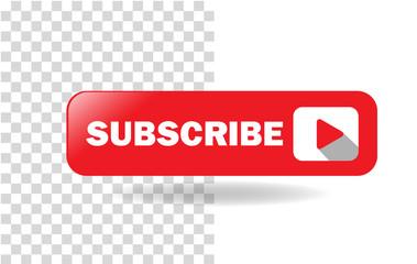 Subscribe Media Button Vector