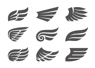 Set of Vector Wings Wall mural