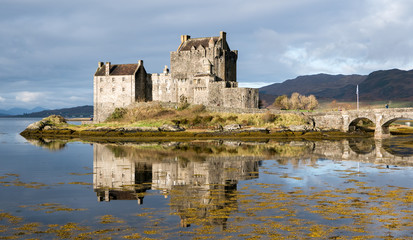 Eilean Donan Castle with reflections, Highlands, Scotland