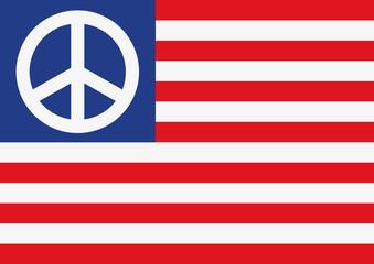 drapeau américain - paix - peace and love - états-unis - Amérique - hippie - guerre - concept
