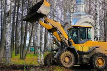 the bulldozer leveled the ground