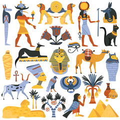 Ancient Egyptian Religion Elements Set