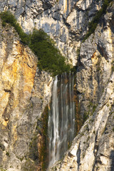 Waterfal Boka, Triglav National Park, Slovenia