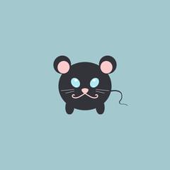 amusing rat. Vector illustration