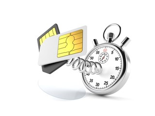SIM cards with stopwatch