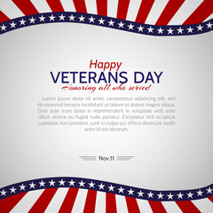 Veterans Day in the USA Vector